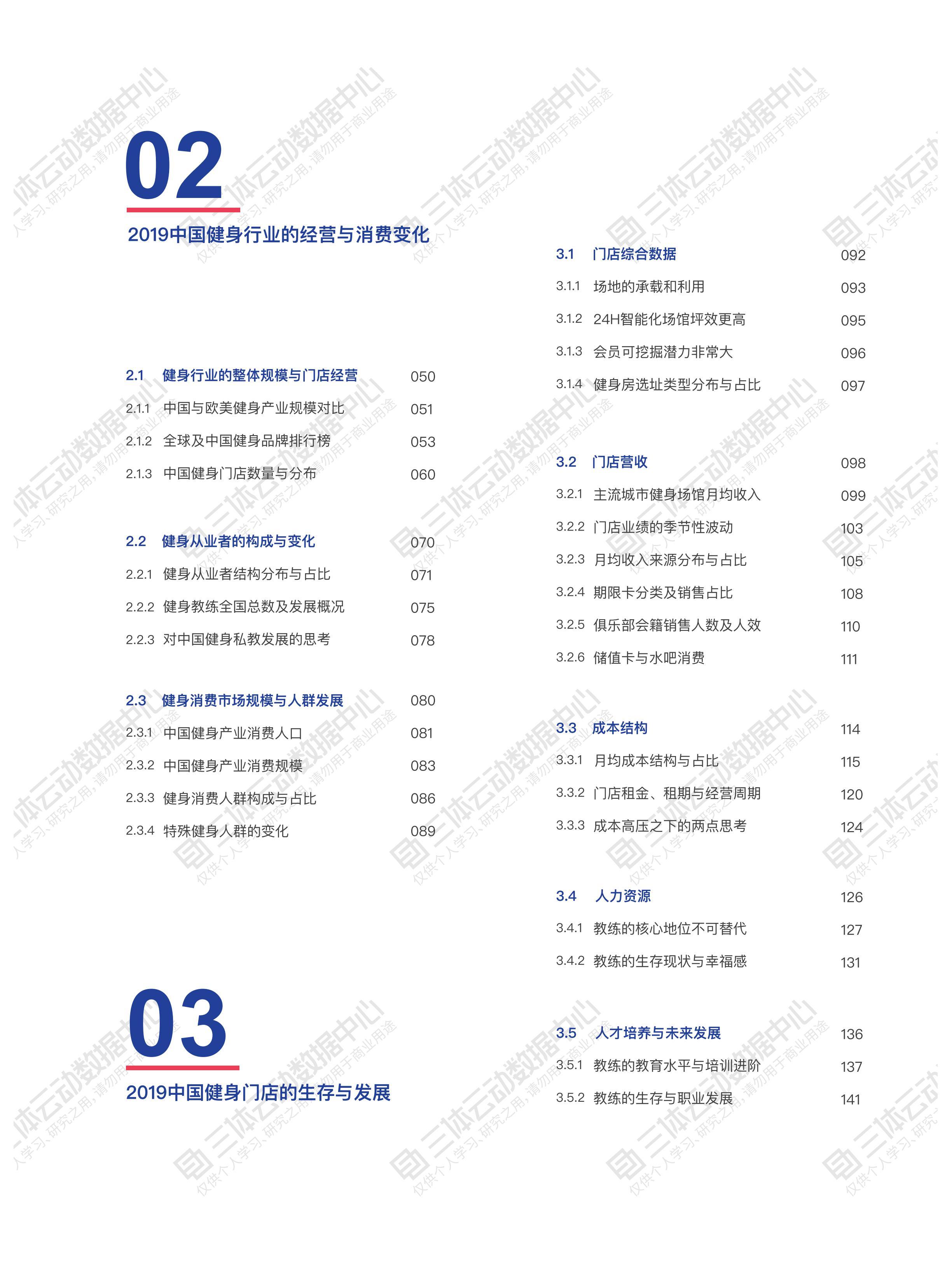 2019健身行业数据报告:序言&目录插图(11)