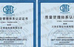 行业首家!三体云智能获ISO27001信息安全管理体系认证&ISO9001企业质量管理体系认证插图